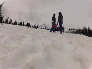 enjoying the view Mt Rainier