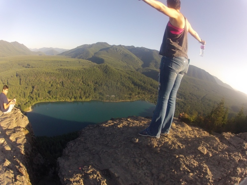 Me on the lower ledge